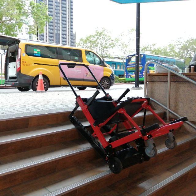 衛福部認證合法 輔具 爬梯機 台灣專利五輪履帶式 天創行 爬梯機 代用輪椅爬梯機