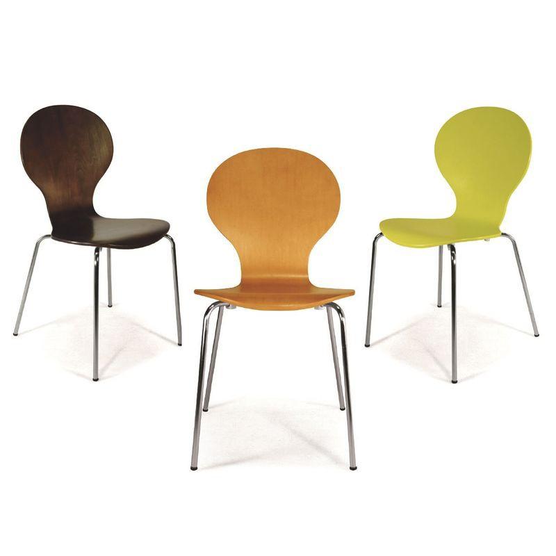 【CH153-01】造型椅(胡桃色)#JS-C23B