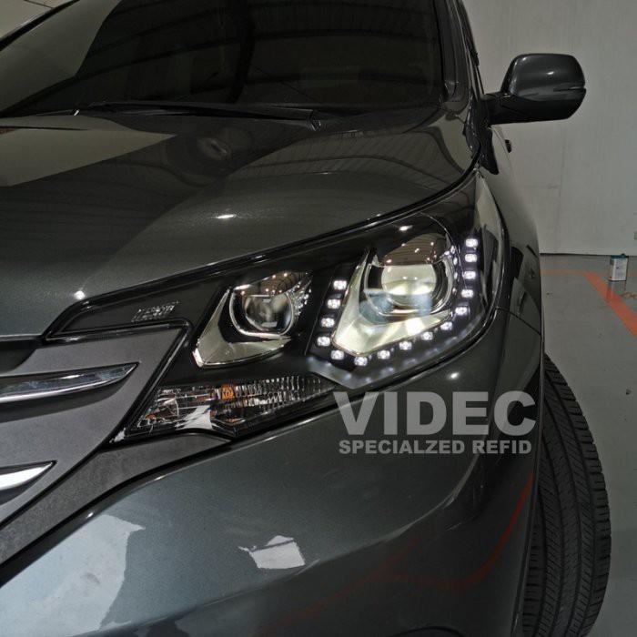 巨城汽車精品 HID HONDA 12-17 CRV 4代 4.5代 專用 U型 魚眼 大燈 總成 光圈 LED 日行燈