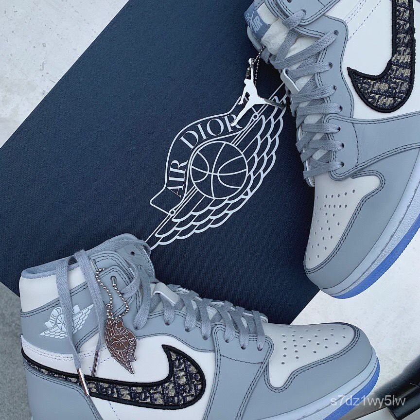 【代購實拍】新款AJ1小迪奧 聯名Low高幫籃球運動鞋 情侶鞋 女鞋低幫男板鞋精品 lipC