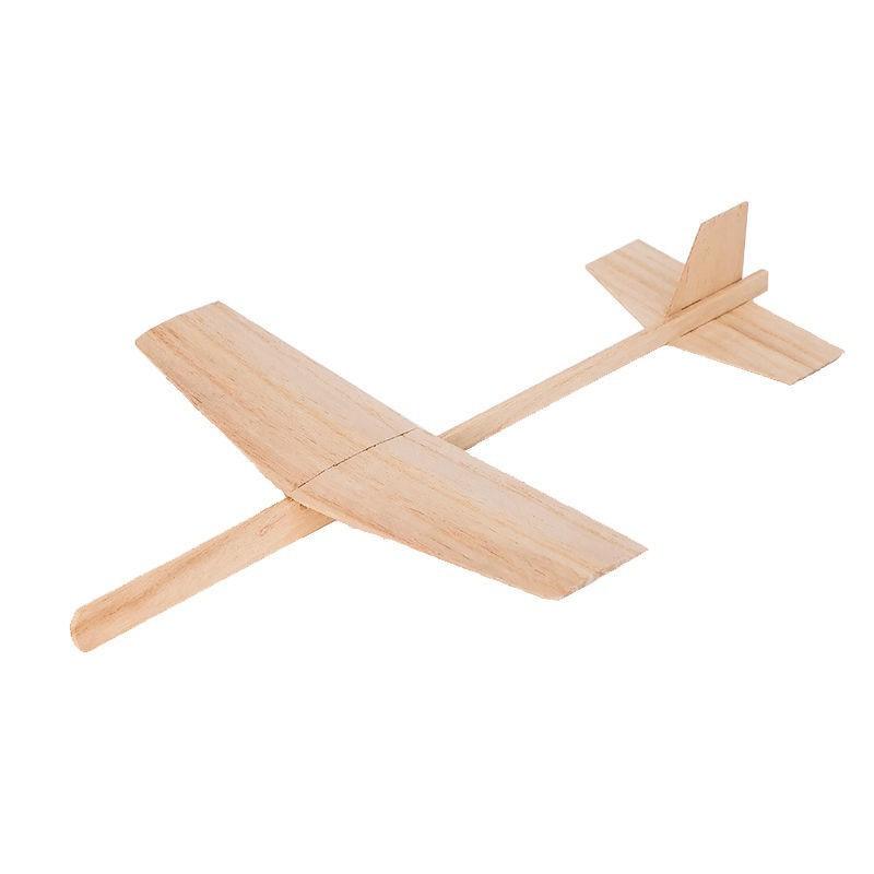 (泡沫飛機)(飛機玩具)流星號彈射模型滑翔機木制木質手擲飛機模型彈射手拋戶外兒童玩具1