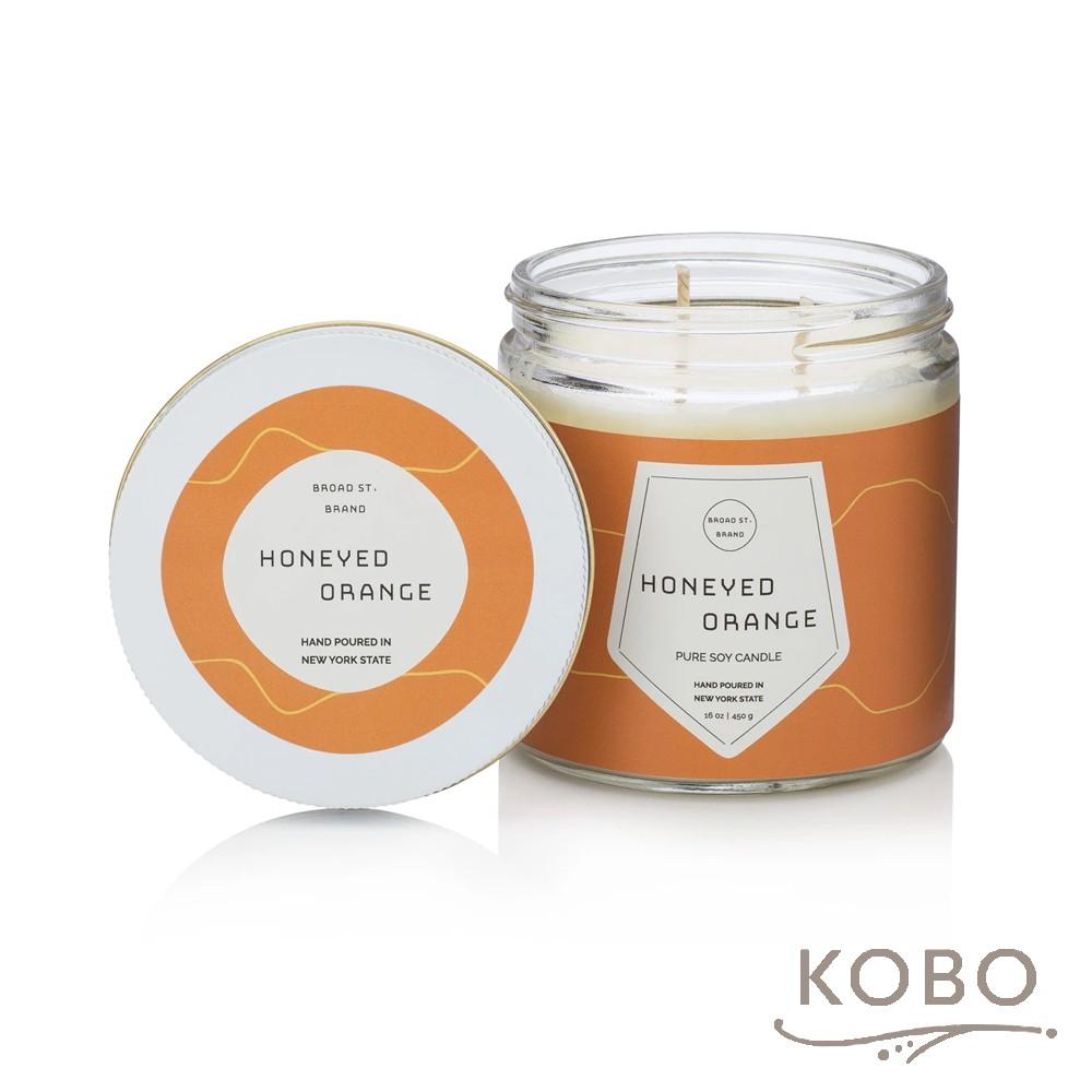 【KOBO】美國大豆精油蠟燭 -蜜香甜橙(450g/可燃燒 65hr)