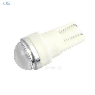 CRE  (1個)DC12V-T10-5730-2LED圓透鏡牌照儀表燈 白光 室內燈泡 超亮