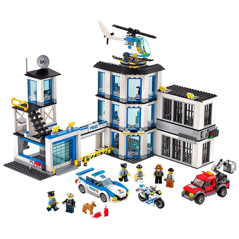 拼裝益智兒童木男孩子人仔樂高警察局監獄城市系列積玩具汽車禮物