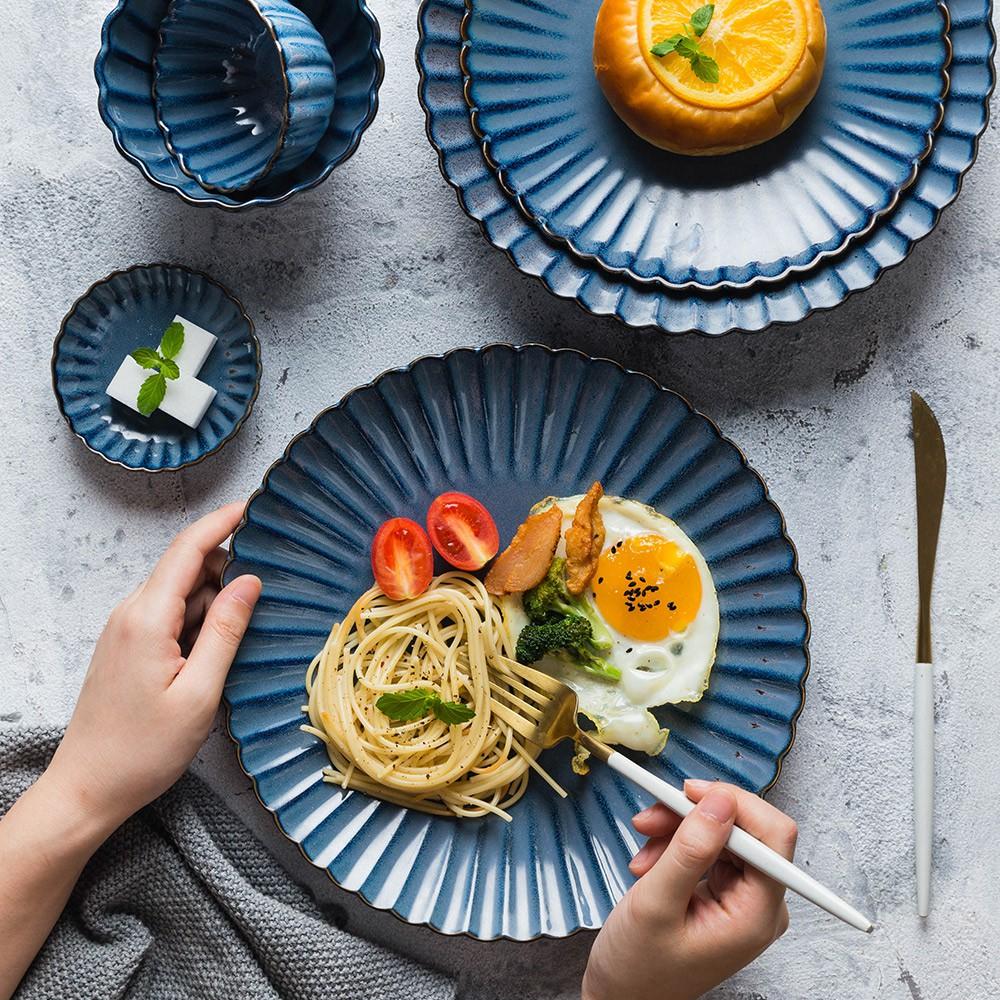 #摩登主婦北歐式家用餐具套裝面碗#陶瓷吃飯碗碟菜盤子網紅西餐忘悠小鋪
