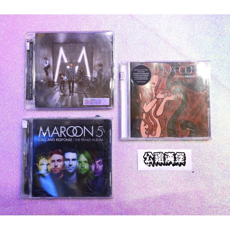 「MAROON 5 MAROON5 魔力紅 系列 二手 cd 唱片 @公雞漢堡」