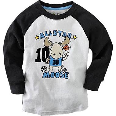 歐美品牌超柔手感長袖純棉刺繡T恤大集合-5099【10112-A1】貝比幸福小舖