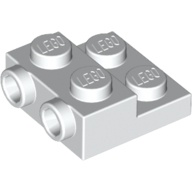 LEGO 樂高零件 白色10入 Plate, Modified 2 x 2 x 2 99206