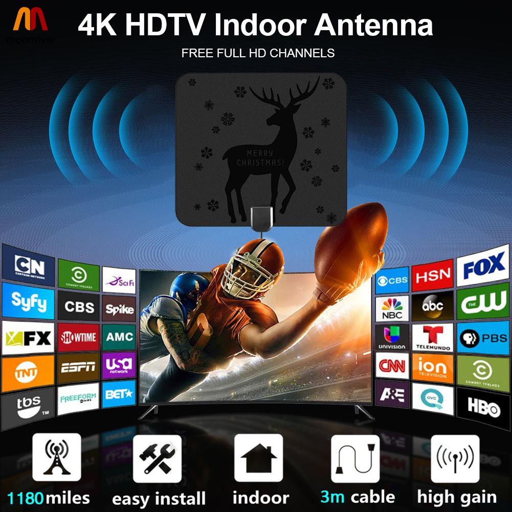 Mr Hdtv 室內電視天線 1180 英里 4k 智能 1080p 數字電視天線放大器信號增強器