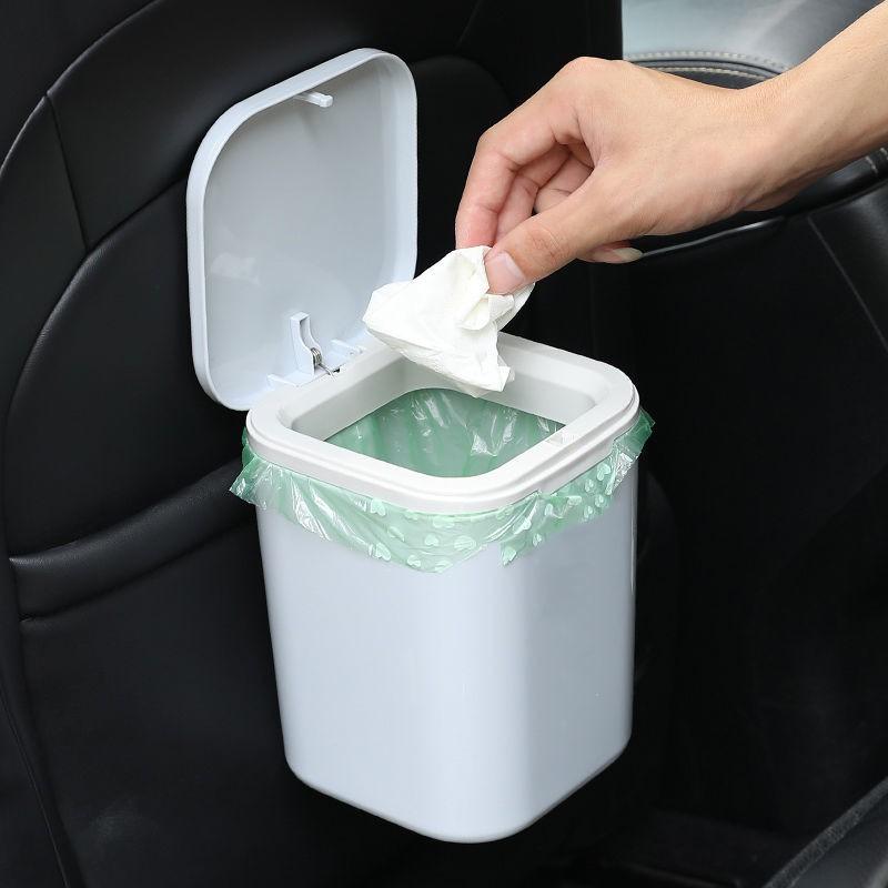 低價汽車垃圾桶創意車內折疊垃圾收納箱掛式車載垃圾桶雜物筒汽車用品 輕便型車用垃圾桶 可側開/前  開 不占空間