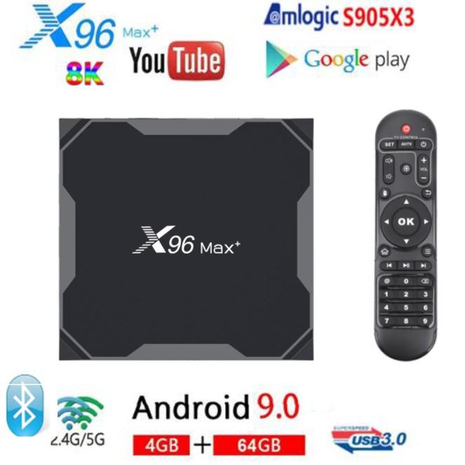 全新 高配版X96 Max+ TV box S905X3 安卓9.0 網路播放器 4K x96系列高配 機頂盒22279