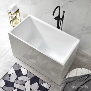 【工廠發貨】小浴缸家用小戶型日式深泡亞克力獨立一體式可移動坐式超迷你方缸家具 新北市