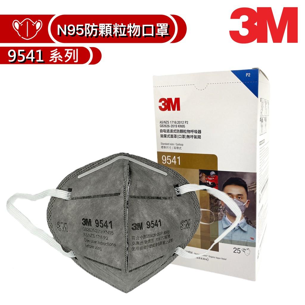 3M KN95 防塵防沫防有機異臭味口罩9541 25 個/盒 (耳掛式)(空污殺手) 【傑群工業補給站】