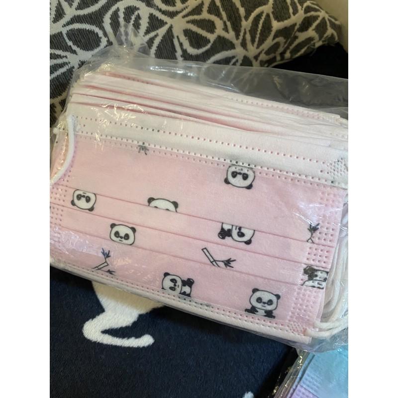 兒童口罩 50入 粉紅 熊熊 (非醫療)