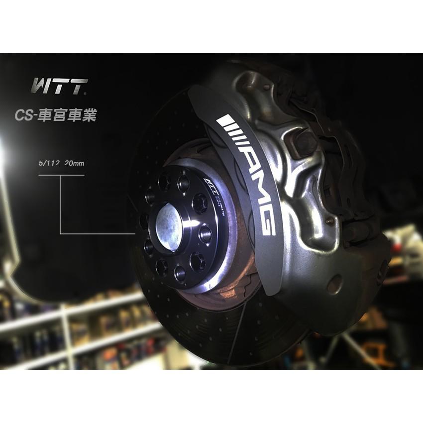 CS車宮車業 WTT 一體鍛造 實裝Benz CLS 63 鋁圈墊片 5/112 20mm bore66.6 (HS)
