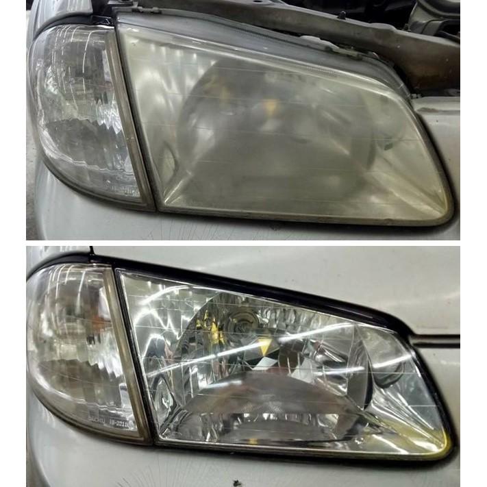大燈快潔現場施工 FORD 福特 Activa Tierra 原廠車大燈泛黃霧化拋光修復翻新處理