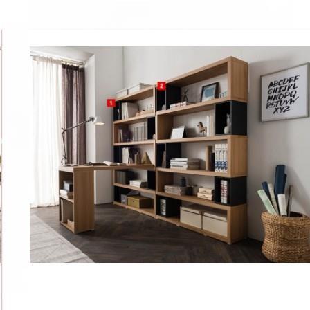 現代 創意 書房 書架多層展示架落地組合書櫃辦公室置物架省空間書架 ea345zay