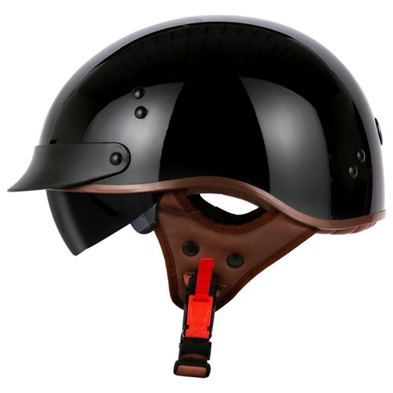 TORC機車復古頭盔男女士哈雷半盔夏季電動車輕便式安全帽瓢盔3CA828