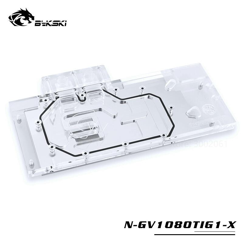 Bykski Water Block 用於技嘉 GTX1080TI-GAMING-OC-11G / GTX1080TI-