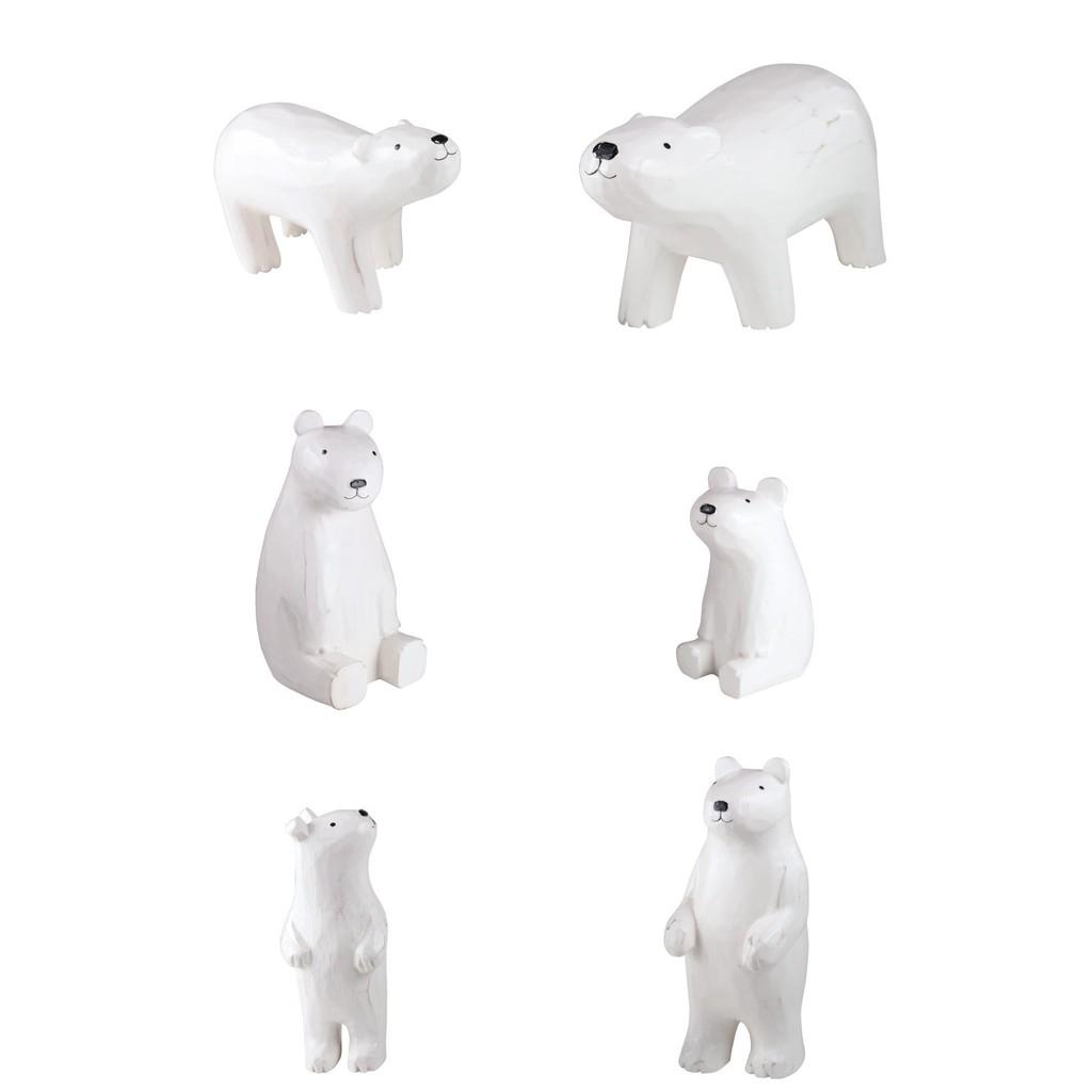 [偶拾小巷] 日本 T-Lab 手刻原木小動物 北極熊系列共6款