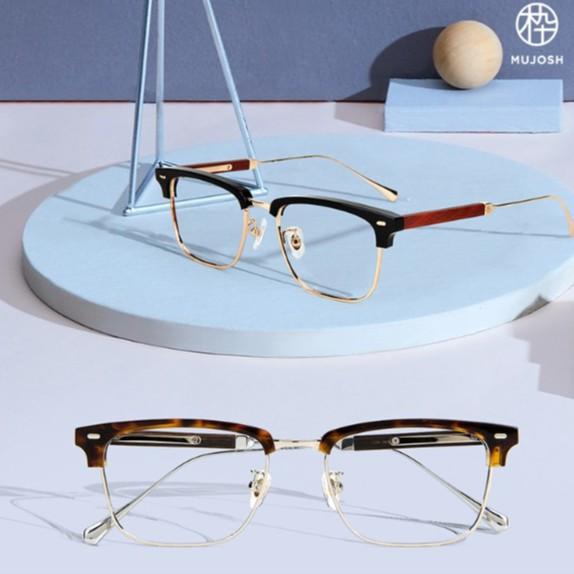 木九十 MUJOSH FM1820194 2019新款 鈦金木眉型半框眼鏡
