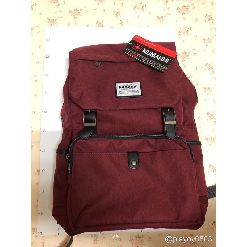 📣全新現貨供應📣十字《NUMANNI 奴曼尼》78-641B休閒機能手提後背包[紅色]  手提包 後背包 雙肩包