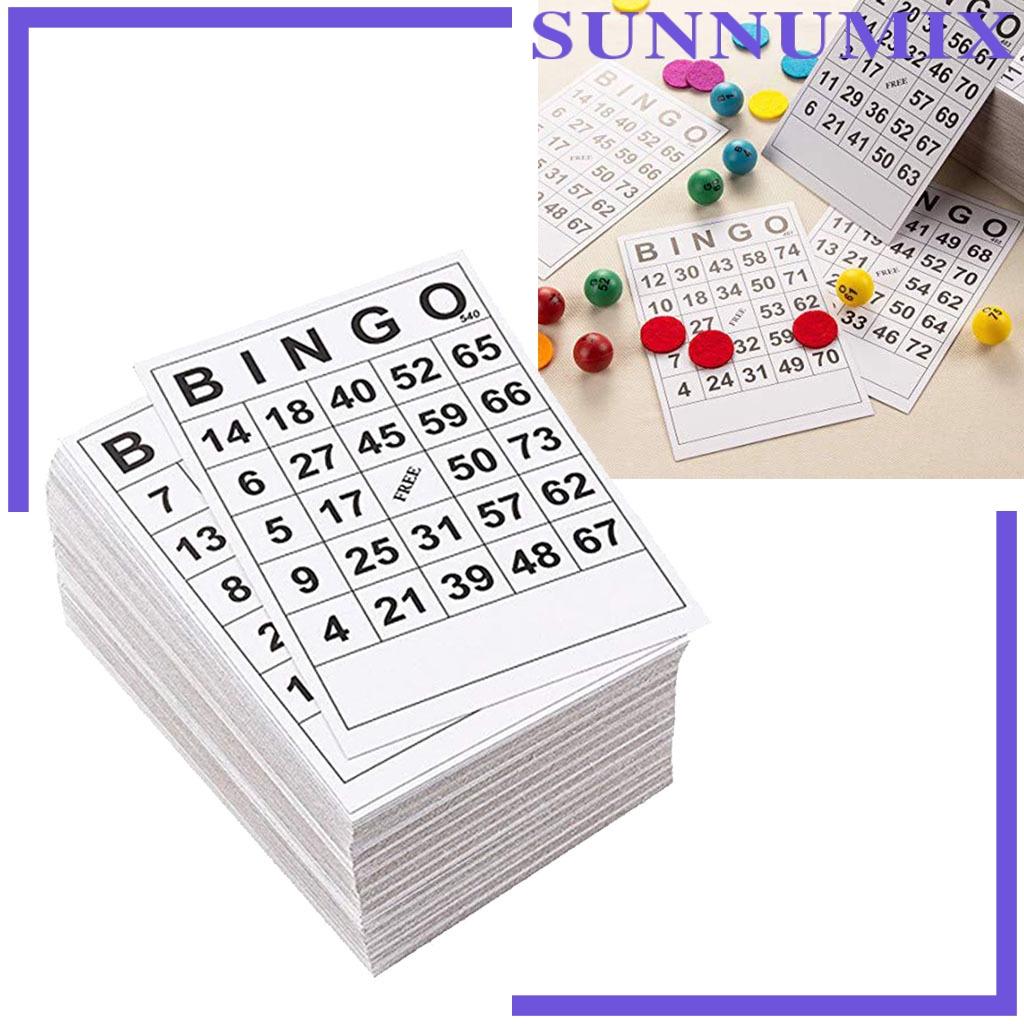 [SUNNIMIX] 60張BINGO遊戲卡單張60張60張面60張卡6 x 7英寸