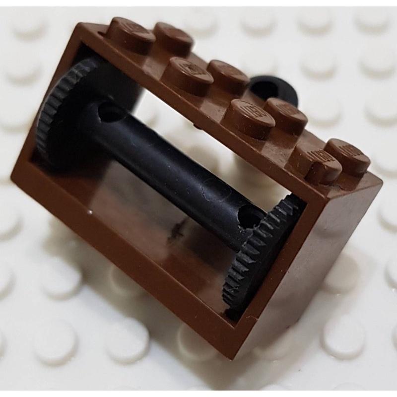 樂高 4209+4208 10040 6274 棕色 船 捲軸 捲線器 捲線箱 捲線座 配件 絕版 老物