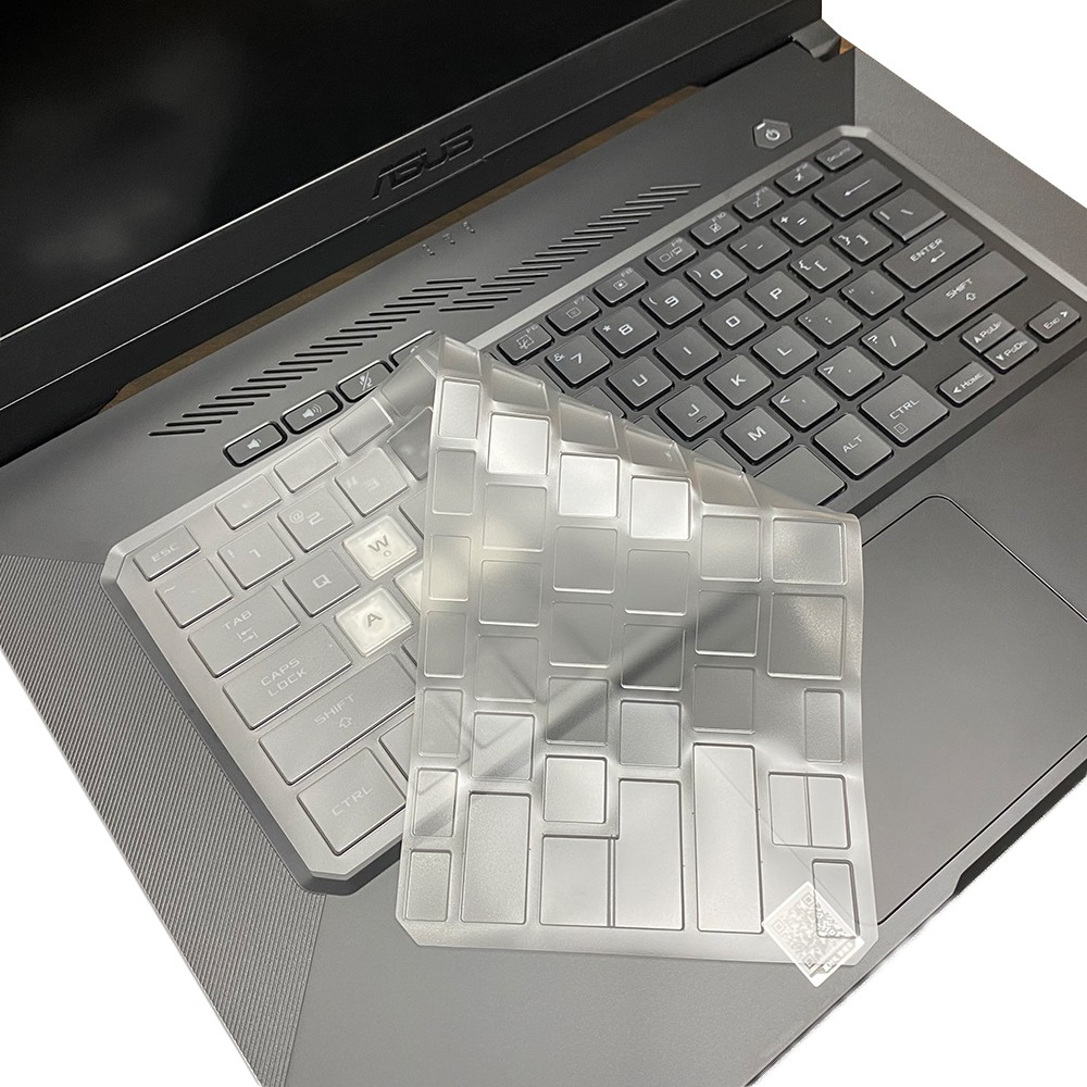 【Ezstick】ASUS TUF F15 FX516 FX516PR 奈米銀抗菌TPU 鍵盤保護膜 鍵盤膜