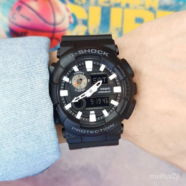 卡西歐G-SHOCK新款手錶男女潮汐衝浪款防水時尚運動GAX-100B-1A Uuyz