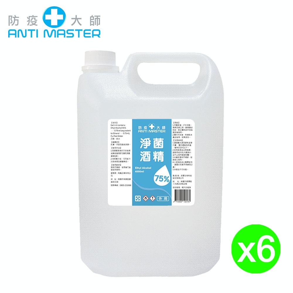 75%酒精4000ml 一箱6入 4L/現貨/含稅價/乙醇/GMP廠/台灣製