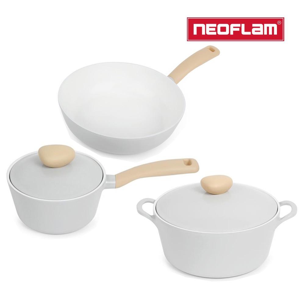 NEOFLAM Retro系列公主鍋具3件組 (26cm湯鍋+18cm單柄湯鍋+24cm平底鍋)