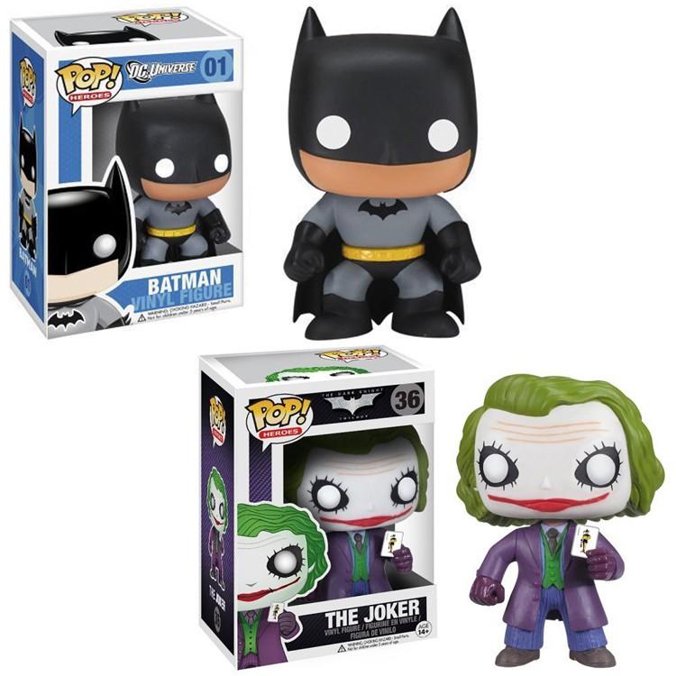 Funko POP 蝙蝠侠黑暗骑士 Batman 小丑 电影周边手办模型玩具01#