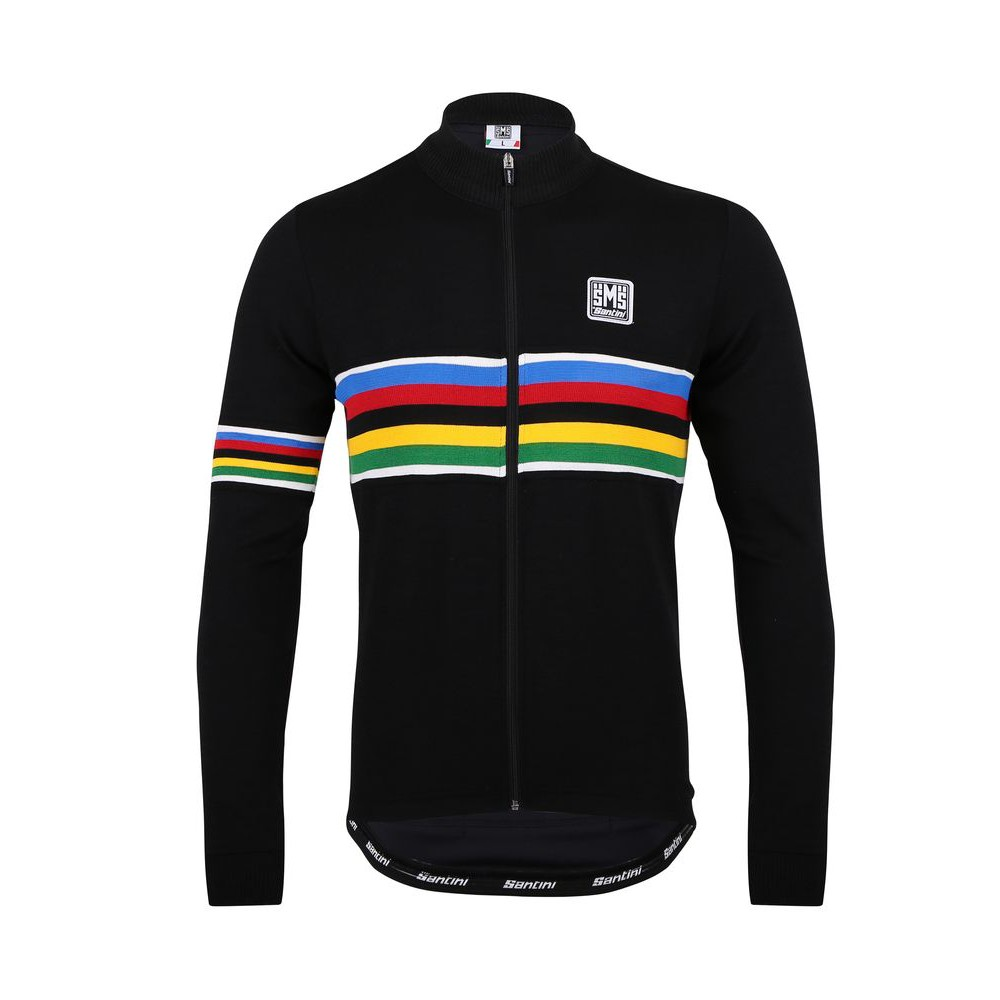 Santini UCI時尚機能羊毛長袖車衣《新店美利達旗艦店》