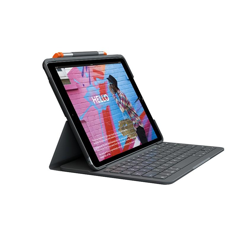 ™【官方旗艦店】羅技 Slim Folio iPad鍵盤保護套第七代多角度支架