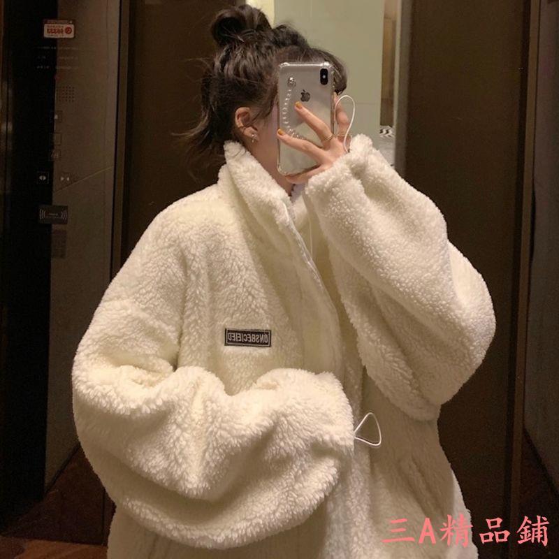 下殺衛衣女潮ins加絨加厚秋冬季新款學生韓版寬松仿羊羔毛絨高領外套