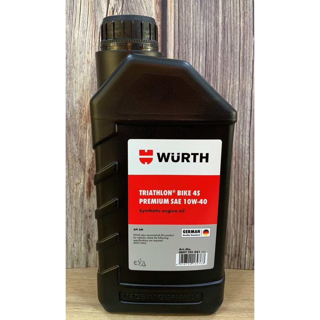WURTH 福士Triathlon Bike 4S  機油 10W40 4T