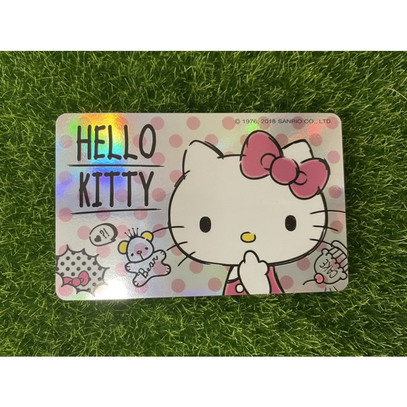 裸卡 HELLO KITTY悠遊卡-閃卡漫畫風 Kitty悠遊卡 kitty閃卡 有刮傷