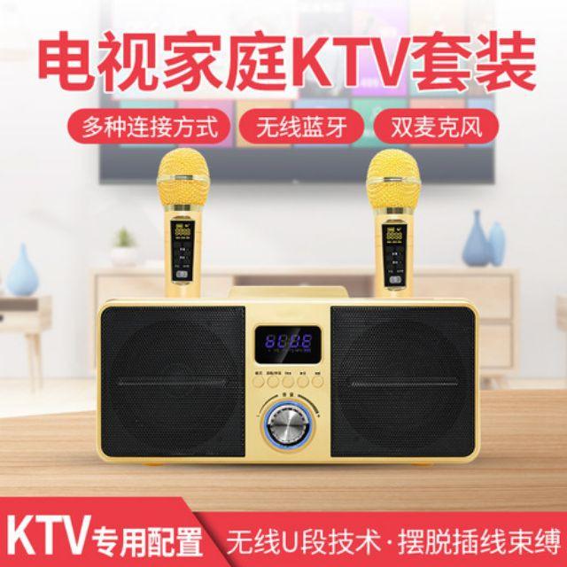 【藍牙用品】《現貨贈麥克風套》SD309,SDRD 家庭歡唱KTV,K歌音箱,藍牙麥克風,藍牙喇叭,卡拉OK機,一鍵消音