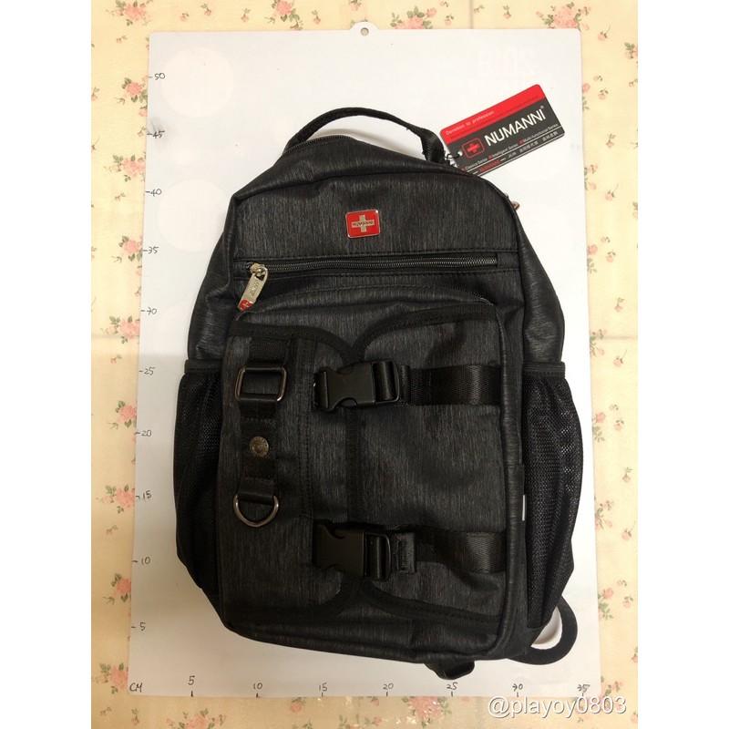 📣全新現貨供應📣十字《NUMANNI 奴曼尼》70-63230A休閒機能多層手提後背包[黑色]  手提包 後背包 雙肩包