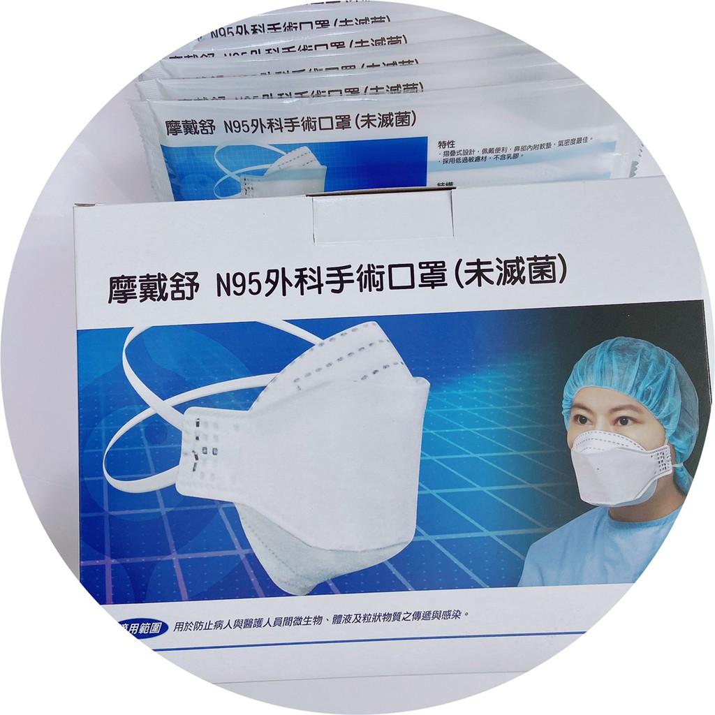 摩戴舒 N95外科手術口罩(未滅菌)20包/盒