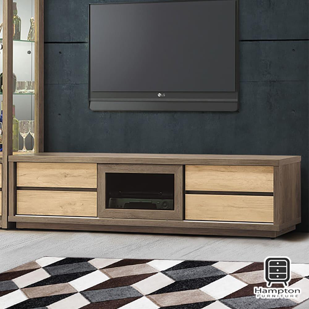 【Hampton 漢汀堡】卡萊布6尺電視櫃(長櫃/櫃子/電視櫃)