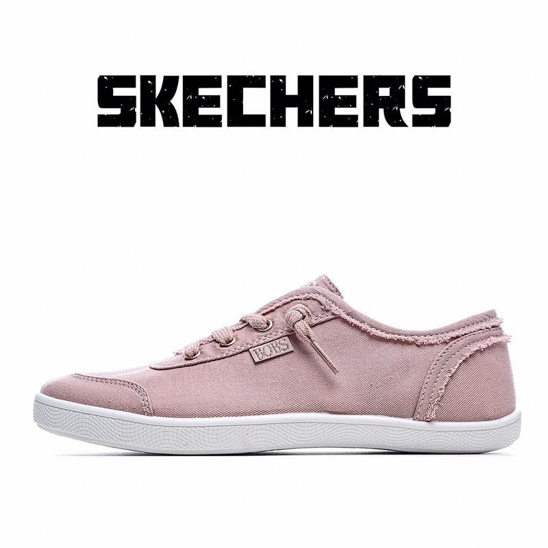 代購Skechers Bobs Cute 斯凱奇 女士 帆布鞋 休閒鞋 懶人鞋 粉色 少女帆布鞋 百搭 校園