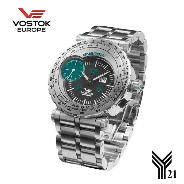 Vostok Europe|蘇聯 能源號 太空火箭 紀念錶-4-2 ( 墨綠 )