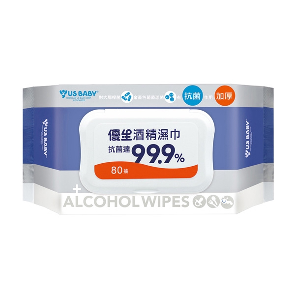 US BABY 優生 酒精濕巾(80抽)超厚型【小三美日】D185444