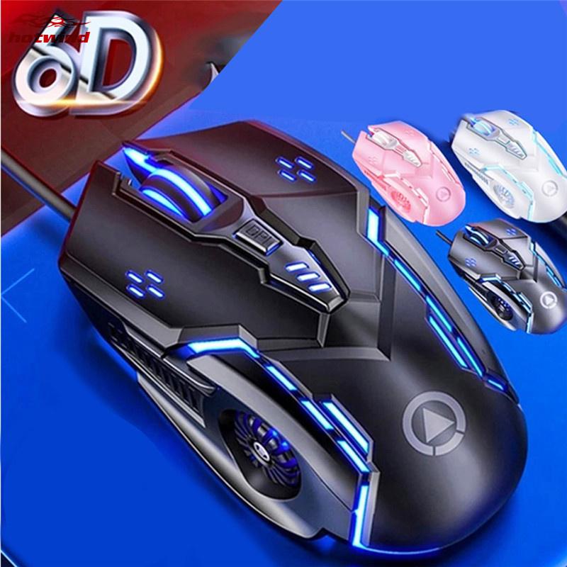 有線滑鼠發光遊戲電競機械靜音滑鼠(G5) Gamer遊戲滑鼠6D 3200DPI可調光LED電腦滑鼠 USB線靜音滑鼠