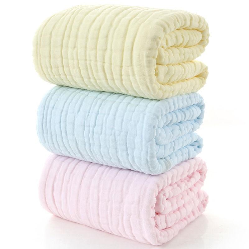◇初生嬰兒浴巾吸水超柔紗巾純棉春秋蓋毯毛巾被子洗澡紗布寶寶抱被