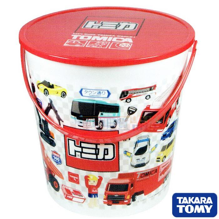 『 單位日貨 』日本正版 トミカ TOMICA 多美 小汽車 圖樣 造型 零食 點心 餅乾桶 收納桶 可手提 不附零食