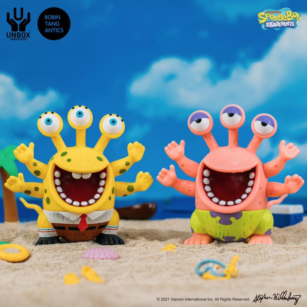 可議價 海綿保介和保大星 海綿寶寶 派大星 保介 三眼 羅賓 羅賓唐 UNBOX 軟膠 限量 設計師玩具
