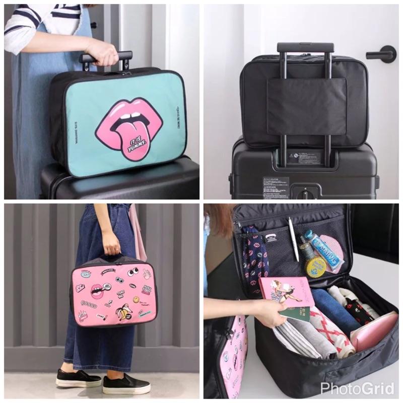 促銷~現貨韓國旅行手提袋收納包